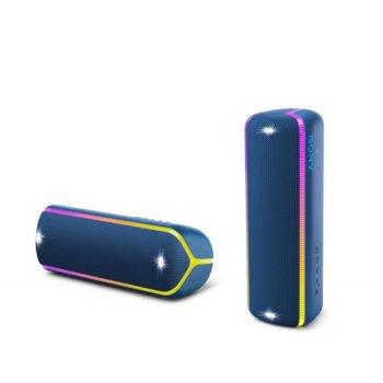Тонколона Sony XB32, 2.0, Bluetooth, NFC, 3.5mm жак, синя, IP67 image