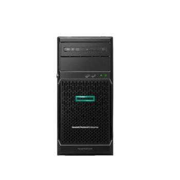 Сървър HPE ML30 G10 (PERFML30-006), четириядрен Coffee Lake Intel Xeon E-2224 3.4/4.6 GHz, 16GB DDR4 UDIMM, 300GB SAS HDD, 2x 1 Gb LOM, 6x USB 3.0, без ОС, 1x 500W image
