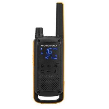 Радиостанции Motorola Talkabout T82 EXTREME PMR, PMR446, 16 канала, до 10 km, защита от намокряне IPx4, лесно сдвояване, LED фенерче, дискретен дисплей с подсветка, черни image