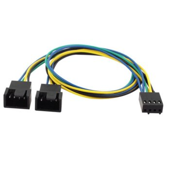 Захранващ кабел 4pin към 2x4pin, Y-Split PWM, 0.1м image