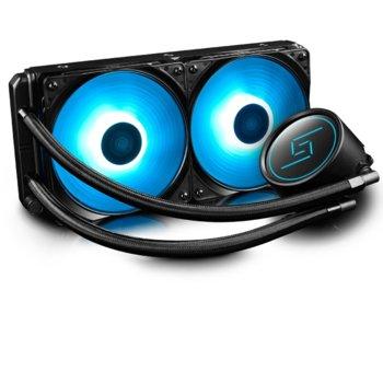 Водно охлаждане за процесор DeepCool GAMMAXX L240 RGB, съвместимост със сокети Intel LGA 2066/2011-v3/2011/1151/1150/1155/1156/1366 & AMD AM4/AM3(+)/AM2(+)/FM2(+)/FM1. image