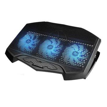 """Охлаждаща поставка за лаптоп H1, за лаптопи до 17"""" (43.18 cm), тънък и елегантен дизайн, черен image"""