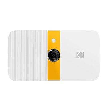 Фотоапарат Kodak Smile RODSMCAMWY(бял), 10 Mpix, снимки с размер 2x3ʺ на хартия ZINK, LCD дисплей, MicroSD до 256GB image