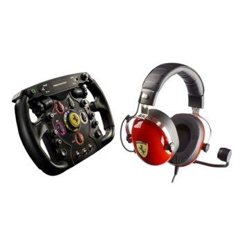 Волан Scuderia Ferrari F1 в комплект със слушалки T-Racing Scuderia (4060105), за PC/XBOXONE/PS4, микрофон image