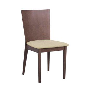 Трапезен стол Carmen DARIO, орех/бежов image