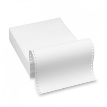 Безконечна принтерна хартия, 240/304.8 mm, двупластова, 1000л., бяла image