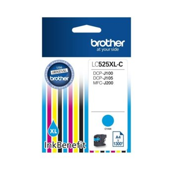 ГЛАВА ЗА BROTHER DCP-J100, DCP-J105, MFC-J200 Ink Cartridge High Yield for - Cyan - LC525XLC- Заб.: 1300k. image