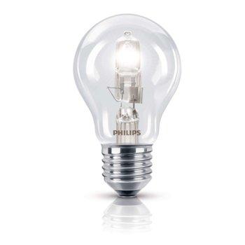 Халогенна крушка Philips EcoClassic, E27, А55, 42 W (55 W), 630lm, топло бялa 2800 K image