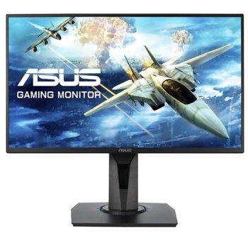 """Монитор ASUS VG255H (90LM0440), 24.5"""" (62.23 cm), TN панел, 75Hz, Full HD , 1ms, 100000000:1, 250cd/m2, HDMI/VGA image"""