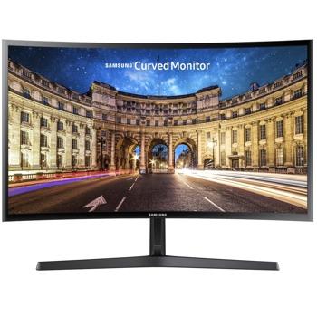 """Монитор Samsung C24F396FH (LC24F396FHRXEN), 23.5"""" (59.69 cm) Curved VA панел, Full HD, 4ms, 3000:1, 250 cd/m2, HDMI, VGA image"""