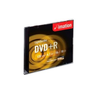 Оптичен носител DVD+R media 4.7GB, Imation LightScribe, 16x, 1бр. image