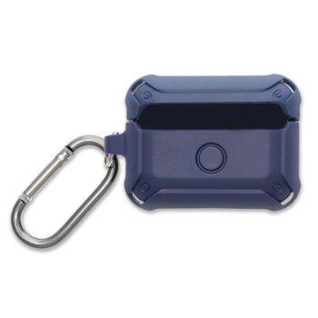 Калъф за слушалки 4Smarts HardShell 4S467815, за Apple AirPods Pro, поликарбонатов, удароустойчив, син image