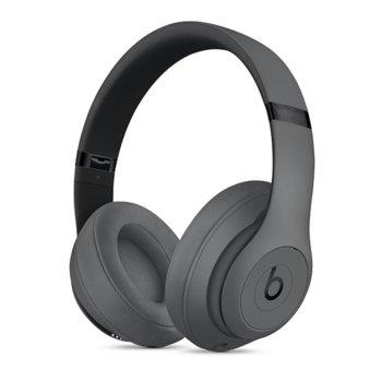 Слушалки Beats Studio3 Wireless, Bluetooth, микрофон, до 40 часа работа, ANC, сиви image