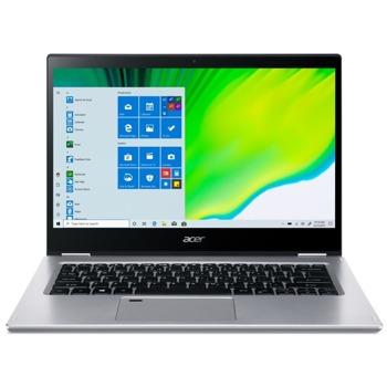 "Лаптоп Acer Spin 3 SP314-21N-R4B1 (NX.A4EEX.002)(сребрист), двуядрен AMD Athlon Silver 3050U 2.3/3.2GHz, 14.0"" (35.56 cm) Full HD IPS Touchscreen Anti-Glare Display, (HDMI), 8GB DDR4, 256GB SSD, 1x USB 3.2 Gen 2 Type-C, Windows 10 Home image"