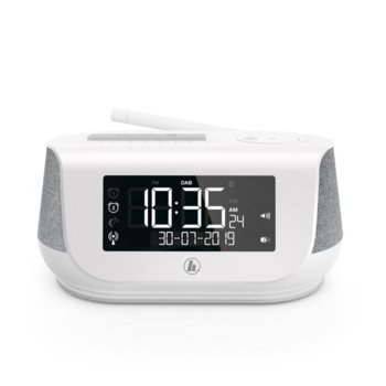 Радио Hama DR36SBT (54231), цифрово, FB, DAB, DAB+, часовник, будилник, Bluetooth, USB, microUSB, AUX, 2x 2W, бяло image