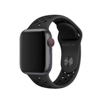 Каишка за смарт часовник Apple Watch (40mm) Nike Band: Anthracite/Black Nike Sport Band - S/M & M/L, черна image
