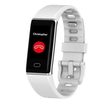 Смарт гривна MyKronoz ZeTrack White, Bluetooth 4.0, 90mAh батерия, водоустойчив IP67, Android, iOS, Windows, бяла image