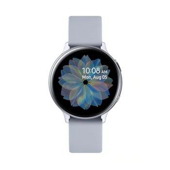 Смарт часовник Samsung Galaxy Watch Active2 SM-R820N (SM-R820NZSABGL), до 131 часа време за работа, алуминиев, сребрист image