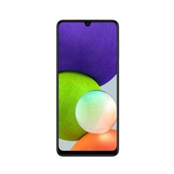 """Смартфон Samsung SM-A225F GALAXY A22 (бял), поддържа 2 sim карти, 6.4"""" (16.26 cm) HD+ Super AMOLED дисплей, осемядрен Mediatek Helio G80 2.0 GHz, 4GB RAM, 128GB Flash памет (+ microSD слот), 48.0 + 8.0 + 2.0 + 2.0 & 13.0 Mpix камера, Android image"""