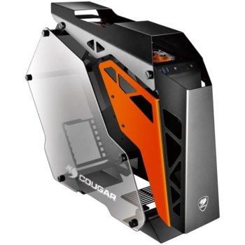 Кутия Cougar Conquer, ATX/mATX/mITX, 2x USB 3.0, странични панели от закалено стъкло, алуминиева, черна, без захранване image
