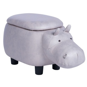 Табуретка Carmen, сив хипопотам image