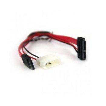 Захранващ кабел VCom CE361 SATA + Molex to SATA Power/Data, 0.15m image