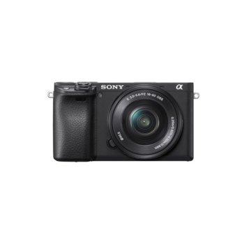 """Фотоапарат Sony A6400(черен) в комплект с обектив Sony SEL 16-50mm f/3.5-5.6 PZ, 24 Мpix, 3"""" (7.5 cm) TFT дисплей, Wi-Fi, Bluetooth, microUSB, microHDMI image"""