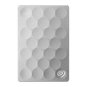 """Твърд диск 1TB Seagate Backup Plus Ultra Slim, външен, 2.5"""" (6.35 cm), USB 3.0, сребрист image"""