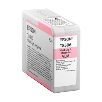 Глава за Epson SureColor SC-P800, Light Magenta - C13T850600 - Epson - Заб.: 80 ml. image