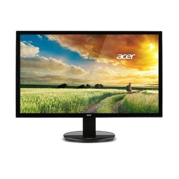 """Монитор Acer UM.WW3EE.005, 21.5"""" (54.6 cm) TN панел, Full HD, 5ms, 100 000 000:1, 200cd/m2, HDMI, VGA, DVI image"""