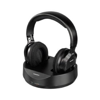 Слушалки, Thomson WHP3001BK UHF, безжични, 100м обхват, черни image