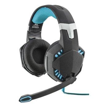 Слушалки Trust GXT 363 Bass Vibration 7.1, геймърски, USB, черни image
