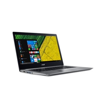 "Лаптоп Acer Swift 3 SF314-52G-89YC (NX.GQUEX.007)(сребрист), четириядрен Kaby Lake R Intel Core i7-8550U 1.8/4.0GHz, 14"" (35.56 cm) Full HD IPS Anti-Glare Display & GF MX150 2GB(HDMI), 8GB DDR4, 256GB SSD, 2x USB 3.0, Windows 10 Home, 1.6kg image"
