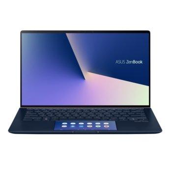"""Лаптоп Asus ZenBook UX434FAC-WB701T (90NB0MQ5-M04680)(син), четириядрен Comet Lake Intel Core i7-10510U 1.8/4.9 GHz, 14"""" (35.56 cm) Full HD Glare Display (HDMI), 8GB, 512GB SSD, 1x USB 3.1 Type C, Windows 10 image"""