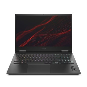 "Лаптоп HP Omen 15-ek0004nu (1R7E0EA), шестядрен Comet Lake Intel Core i7-10750H 2.6/5.0 GHz, 15.6"" (39.62 cm) Full HD IPS 144Hz Anti-Glare Display & GF GTX 1660 Ti 6GB, (mDP), 16GB DDR4, 1TB SSD, 1x Thunderbolt 3, Free DOS  image"