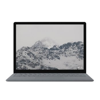 "Лаптоп Microsoft Surface Laptop 2 (LQL-00012)(сребрист), четириядрен Kaby Lake R Intel Core i5-8250U 1.6/3.4 GHz, 13.5"" (34.29 cm) WQHD multi-touch Corning Gorilla Glass 3 Glare PixelSense Display, (mDP), 8GB, 128GB SSD, 1x USB 3.0, Windows 10 image"