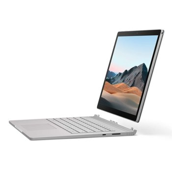 "Хибриден лаптоп Microsoft Surface Book 3 (SLZ-00009)(сребрист), четириядрен Ice Lake Intel Core i7-1065G7 1.3/3.9 GHz, 15.0"" (38.10 cm) PixelSense Touchscreen Display, (USB-C), 16GB, 256GB SSD, Windows 10 Home image"