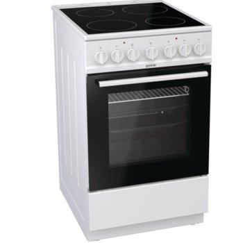 Готварска печка Gorenje EC5241WG, 62 л. обем на фурната, 4 HiLight зони, Механичен брояч, бял image