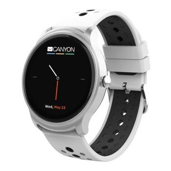 "Смарт часовник Canyon Oregano, 1.3"" (3.3 cm) сензорен дисплей, Bluetooth 4.2, IP68 водоустойчивост, iOS/Android, бял image"
