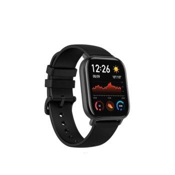 """Смарт часовник Xiaomi Amazfit GTS - Black, 1.65"""" (4.19 cm) AMOLED дисплей, до 14 дни живот на батерията, 12 спортни режима, 3-осен геомагнитен сензор, черен  image"""