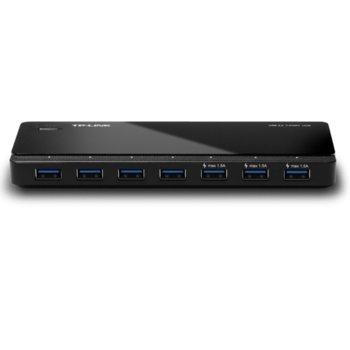 USB Хъб TP-Link UH700, 7x USB 3.0, черен image