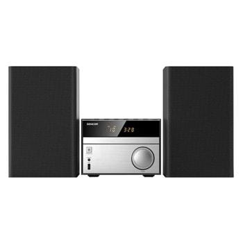 Микро аудио система Sencor SMC 4300BR Мicrosystem, 2.0, 2x 15W, Bluetooth, FM, черен image