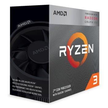 Процесор AMD Ryzen 3 3200G, четириядрен (3.6/4.0GHz, 4MB L3 Cache, 1250 MHz графична честота, AM4) BOX, с Wraith Stealth охлаждане image