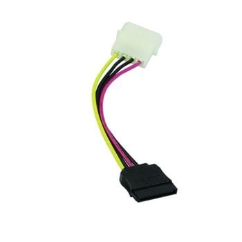 Захранващ SATA кабел VCom CE359, SATA 15pin - Molex 4pin, 0.15м  image