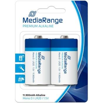 Батерии алкални MediaRange Premium D MRBAT109 LR20, 1.5V, 11 900mAh, 10бр. image