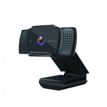 Уеб камера Conceptronic AMDIS02B, 2592x1944 / 30FPS, микрофон, USB, черна image