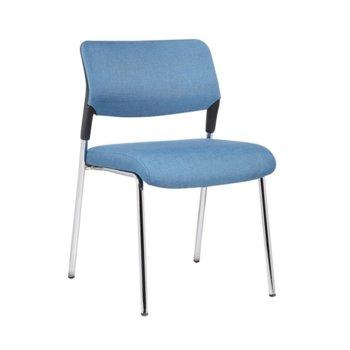 Посетителски стол RFG Evo 4L M (ON4010100293), дамаска, 120 кг. максимално натоварване, син image