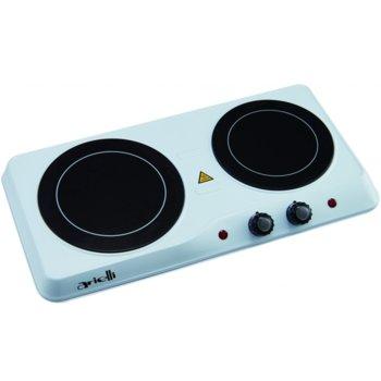 Електрически керамичен котлон Arielli AHP-6201W, 2 нагревателни зони, механично управление, 2000 W, бял image
