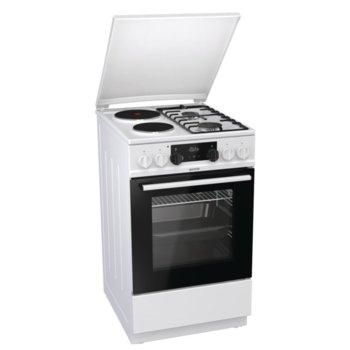 Готварска печка Gorenje K5351WF, 70 л обем на фурната, 4 нагревателни зони (2 газови,2 електрически), WarmPlate функция, бял image