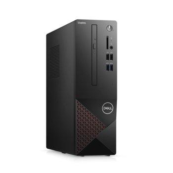 Настолен компютър Dell Vostro 3681 SFF (N206VD3681EMEA03_2101_UBUK-14), четириядрен Comet Lake Intel Core i3-10100 3.6/4.3 GHz, 4GB DDR4, 1TB HDD, 4x USB 3.2 Gen 1 Type-A, клавиатура и мишка, Linux  image